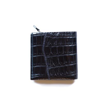 1/4 Wallet/ SCAR CROCO BLK