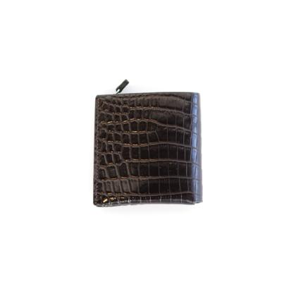 1/4 Wallet/ BLK CROCO GREEN