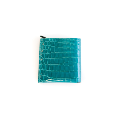 1/4 Wallet/ TURQUOIS CROCO