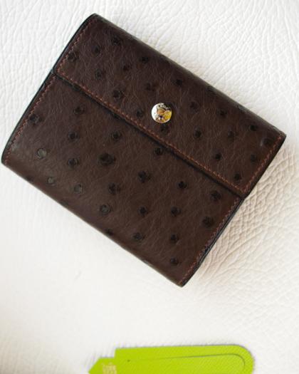 Wallet/ OSTRICH D. BR