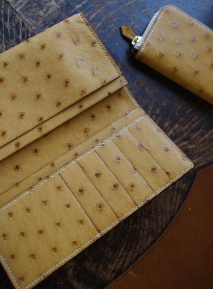 Wallet L/ OSTRICH TABAC