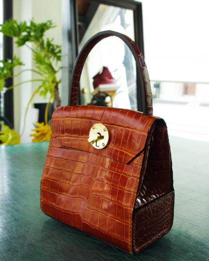 Hand Bag/ ALMOND CROCO