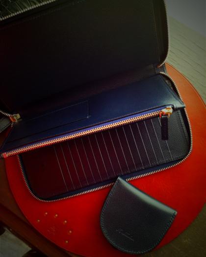 Wallet L/ NAVY ZIP-OPEN