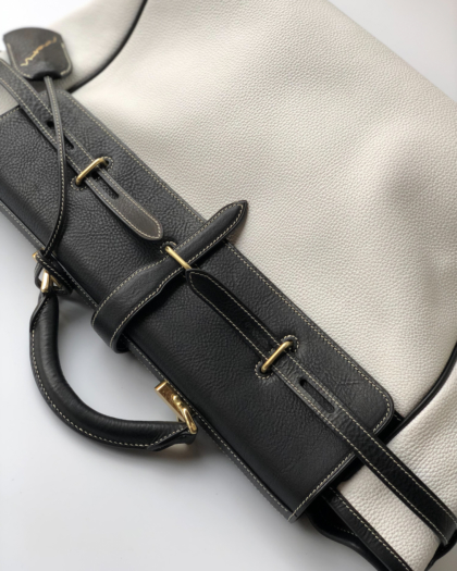 Bag L/ BLK&WH BELT